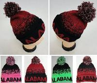 Knitted Hat with PomPom [ALABAMA] Digital Fade